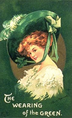 These are lovely Free St Patricks Day Clip Art Lady Images! Shown are several vintage postcards showing women in their finest Green outfits for St Pat's! St Patricks Day Pictures, St Patricks Day Cards, Saint Patricks, St Patrick's Day, Decoupage Vintage, Vintage Greeting Cards, Vintage Postcards, Holiday Postcards, Vintage Images