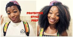 How to prep your natural hair for a protective style