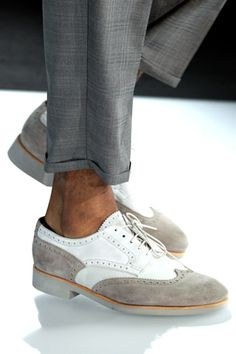 White & suede: I can't get enough of oxfords. (I would wear these even though they are men's!)