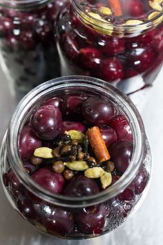 Canned Cherry - Meat Accompaniment- Canned Cherry – Meat Accompaniment - Chutney, Canned Cherries, Good Food, Yummy Food, Homemade Pickles, Sprout Recipes, Russian Recipes, Cook At Home, Food Humor