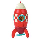 WOODEN MAGNETIC TOY ROCKET by Janod (at French Blossom) @Kristina Mondragon for Aiden