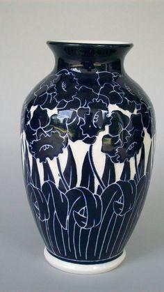 Daffodil Vase. Cobalt pottery.
