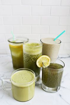 Though we love our Matcha lattes and hot tea, get creative with these 5 easy ways to incorporate this superfood into your diet! #matcha #health #wellness