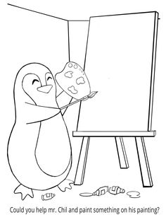 Penguin Coloring Book - It\'s Mrs. Chil\'s Birthday! Come and ...