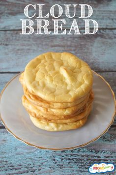 Grain Free Cloud Bread Recipe I skip the honey and stevia. Makes great hamburger buns or little slider buns. Our favorite!!!!