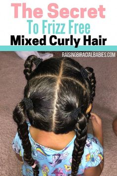 Hairstyles curly Got Frizzy Mixed Hair? Here's The Secret To Eliminating Frizz You may think it's impossible to have frizz-free biracial curly hair. But you can get rid of frizzy mixed hair! Here's the secret to get beautifully smooth mixed hair! Mixed Curly Hair, Mixed Hair Care, Curly Hair Tips, Curly Hair Care, Short Curly Hair, Curly Hair Styles, Long Hair, Frizzy Hair, Curly Girl