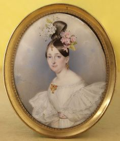 Miniature portrait by Carl von Saar, signed and dated 1832