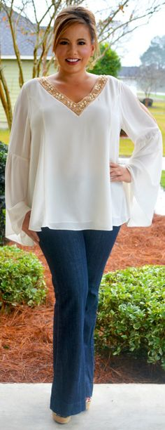 Perfectly Priscilla Boutique - An Angel Among Us Top, $43.00 (http://www.perfectlypriscilla.com/an-angel-among-us-top/)
