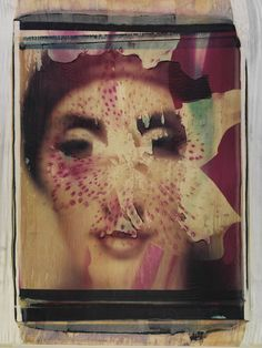 Girardi Collage photo by werner pawlok, polaroid, transfer, photography, fine art, polaroid large format, art, fotografie, kunst, portrait