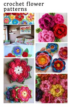 Crochet Flowers Patterns So many fabulous crochet flower patterns! - Wondering how to make crochet flowers? We have everything from Japanese flowers to appliqué patterns and even a wedding bouquet! Crochet Dragon Pattern, Bunny Crochet, Crochet Fairy, Crochet Puff Flower, Crochet Baby Toys, Crochet Mermaid, Crochet Flower Patterns, Crochet Blanket Patterns, Amigurumi Patterns