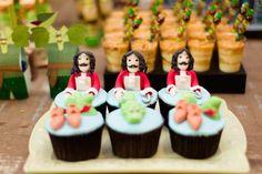Neverland Birthday Party via Kara's Party Ideas: Capt Hook Cupcakes
