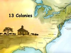 13 Colonies by Mrs. Sharbs, via Slideshare. This is a slideshow of the 13 colonies. It shows the division of the New England, Middle, and South Colonies. The slideshow also gives a description of each colony. Teaching Us History, Teaching American History, History Teachers, 7th Grade Social Studies, Social Studies Activities, Teaching Social Studies, History Classroom, Study History, Social Science