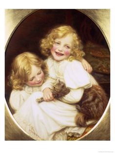 Happy Playmates  by William Henry Gore