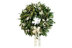 "18"" Olive & Integrifolia Wreath, Dried"