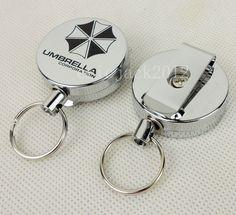 Resident Evil Umbrella Corporation Key Chain Metal Retractable Keychain-D823  | eBay