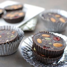 Freezer Chocolate Peanut Butter Cups sweetened with honey