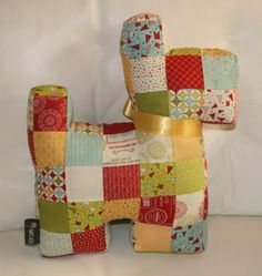 Patchwork Scottie dog in Sweetwater's Wishes by morethanjustquilts, $65.00