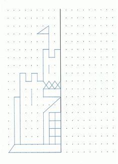 Castle to draw or make a geoboard design.