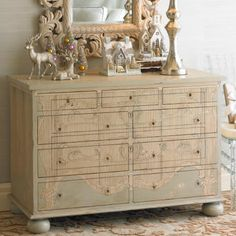 Great play on the eye for the drawers.