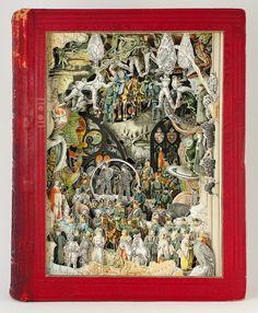 Colagens Esculturais de Livros