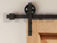 1.9m Intérieu Sliding quincaillerie de porte de grange kit de piste: Amazon.fr: Bricolage