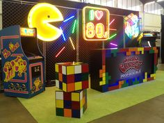 80s decor ideas; Pac Man neon; rubiku0027s cube; vintage arcade; 80s decor & First time making these Rubix cubes for a 80u0027s party . The mid size ...