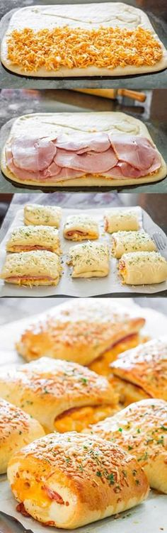 I would make these with turkey and cheese-- dough recipe included.