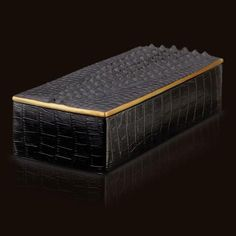 """Crocodile Desk Accessories RECTANGULAR BOX - 4"""" x 9"""" x 2"""" from L'Objet in Yardley, PA from Pink Daisy"""