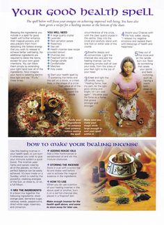 Magick Spells:  Your Good Health #Spell.