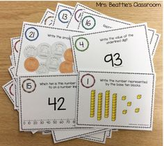 Teaching number sense to This fun Scoot game activity contains number representations in base ten, number line, money, place value of digits, and comparison. Teaching Numbers, Math Numbers, Teaching Math, Teaching Strategies, Math Games For Kids, Fun Math Activities, Math Resources, Guided Math, Math 2