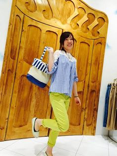 ☆Colorful Summer code☆ 鮮やかイエローのパンツにマリンストライプを合わせて海辺へお出掛け♪shop assistant T