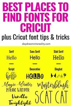 Cricut Help, Find Fonts, Cricut Craft Room, Cricut Fonts, Cricut Explore Air, Tips & Tricks, Cricut Tutorials, Cricut Creations, Personalized T Shirts