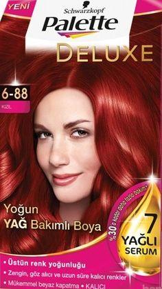 Palette 2017 Saç Renk Kartelası - Palette Kızıl Saç Boyası rengi