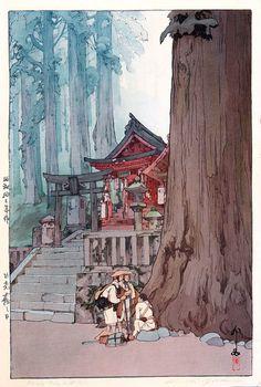 Hiroshi Yoshida Misty Day in Nikko 1937