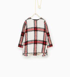 Imagem 1 de Camisola comprida quadrados da Zara