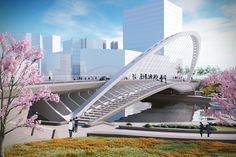 Xihu Bridge. Image © Santiago Calatrava LLC