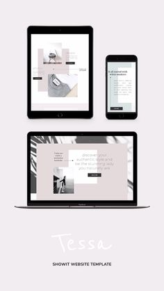 Showit Website Template Tessa for creative professionals - One-of-a-kind web design for a creative boss ladies looking for a fresh, minimal website. Portfolio Design Layouts, Layout Design, Website Design Layout, Wordpress Website Design, Web Layout, Logo Design, Design Design, Layout Site, Design Portfolios