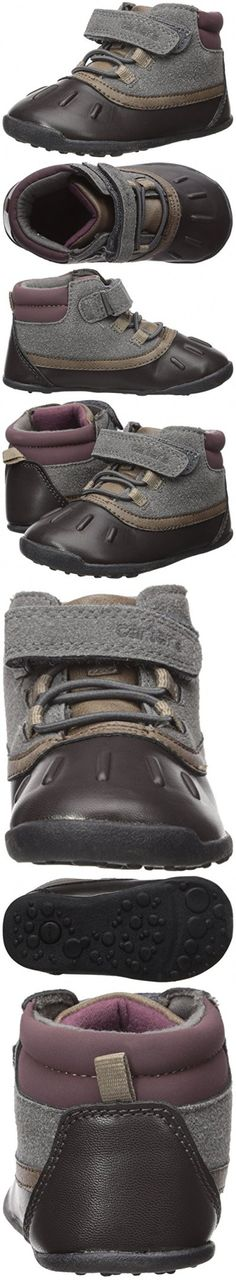 Carter's Every Step Boys' Cater's Every Step Stage 3 Walk, Jonah-WB Fashion Boot, Grey/Dark Brown, 4.0 M US (12-18 Months)