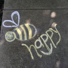 Live Happy | Chalk Art | Be Happy