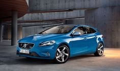 My car v40 R Design - rebel blue, full leather and all black interior / park assist too- great fun