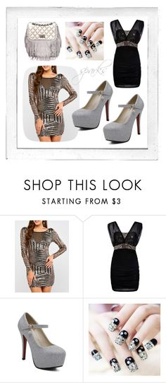 """party season silver sparks autumn winter twinkledeals"" by beanpod ❤ liked on Polyvore featuring Polaroid"