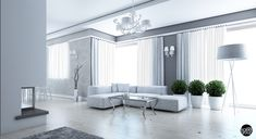 White, silver, and gray living room. Very much in love with this room. #whitesilvergray #livingroom