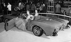 Debuting in 1955, the Buick Wildcat III was exhibited at the Chicago Auto Show in January, 1956. It was one of the earliest four-passenger fiberglass concept cars and housed an extremely powerful V-8 engine with 280 horses and a four-barrel carburetor. This was the third version of Buick's Wildcat in as many years. Hood sloped forward; parking, directional lights were housed in bumper bombs, and air intakes helped cool brakes.