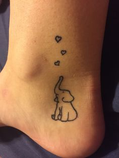 Me and my roommates matching tattoos #bestfriendtattoos #elephant #love #tattoo