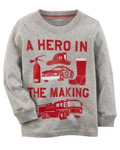 fd320c01c Kid Boy Hero Jersey Tee | Carters.com Toddler Girl Style, Toddler Fall  Fashion