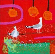 Emma Dunbar - Two Gulls, Orange Bouys