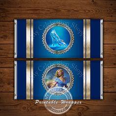 CINDERELLA CANDY BAR Wrapper, Princess, Invitation, Cinderella Invitations, 2015, Cinderella, Cinderella Printables, Decorations, Printable
