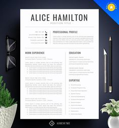 Resume Template Professional Resume 2 Pages Resume Template