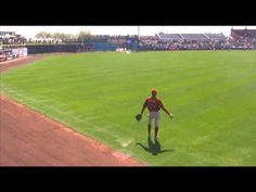 Trevor Bauer Pre-Game Long Toss. Hoping to see this in person one day...