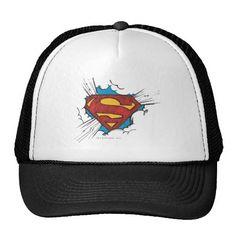 Superman S-Shield | Within Clouds Logo. Producto disponible en tienda Zazzle. Accesorios, moda. Product available in Zazzle store. Fashion Accessories. Regalos, Gifts. #gorra #hat #heroe #hero #american